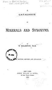 A Catalogue of Minerals and Synonyms
