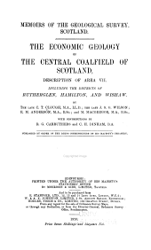 The Economic Geology of the Central Coal-field of Scotland, Description of Area VII.: Including the Districts of Rutherglen, Hamilton, and Wishaw