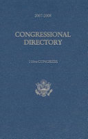 Congressional Directory 2007-2008