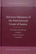 Advisory Opinions of the International Court of Justice