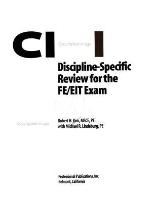 Civil Discipline specific Review for the FE EIT Exam PDF