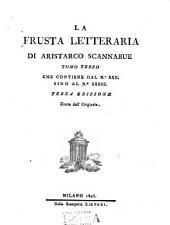La frusta letteraria di Aristarco Scannabue tomo primo [-terzo]: Tomo terzo che contiene dal n. 25 sino al n. 33, Volume 3