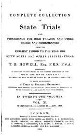 A Complete Collection of State Trials and Proceedings for High Treason and Other Crimes and Misdemeanors from the Earliest Period to the Year 1783: 1680-88