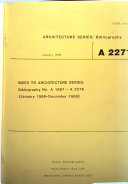 Architecture Series: Bibliography