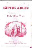 Scripture Leaflets  or  Daily Bible texts PDF