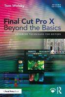 Final Cut Pro X Beyond the Basics PDF