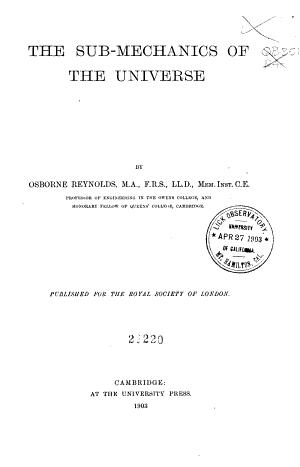The Sub mechanics of the Universe PDF