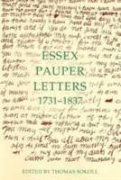 Essex Pauper Letters  1731 1837 PDF