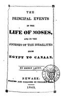 The Principal Events in the Life of Moses PDF