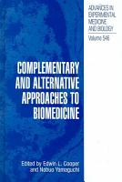 Complementary and Alternative Approaches to Biomedicine PDF