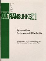 System-plan Environmental Evaluation (SEE) for Translinks 21