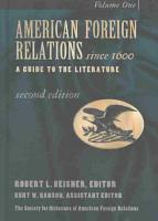 American Foreign Relations Since 1600 PDF