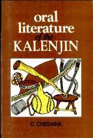 Oral Literature of the Kalenjin PDF