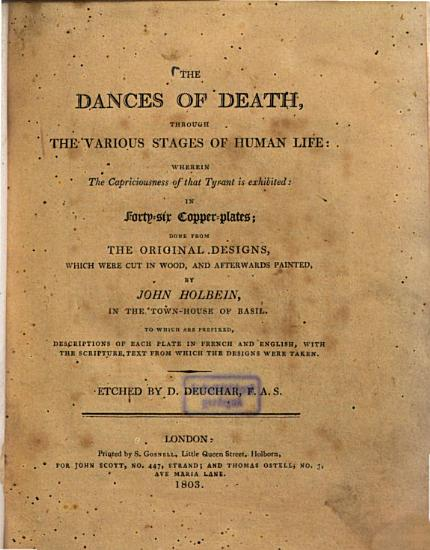 The Dances of Death Through the Various Stages of Human Life PDF