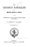 Canadian Naturalist and Quarterly Journal of Science PDF