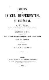 Cours de calcul différentiel et intégral: Volume1