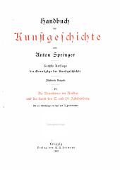 Handbuch der kunstgeschichte: Band 4