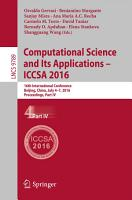 Computational Science and Its Applications   ICCSA 2016 PDF