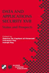 Data And Applications Security Xvii Book PDF