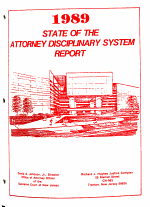 State of the Attorney Disciplinary System Report