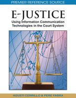 E Justice  Using Information Communication Technologies in the Court System PDF
