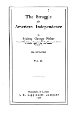 The Struggle for American Independence: Volume 2