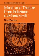 Music and Theatre from Poliziano to Monteverdi