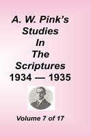 A  W  Pink s Studies in the Scriptures PDF
