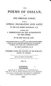 The poems of Ossian in the original Gaelic: Volume 2