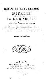 Histoire littéraire d'Italie: Volume2