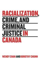 Racialization  Crime  and Criminal Justice in Canada PDF