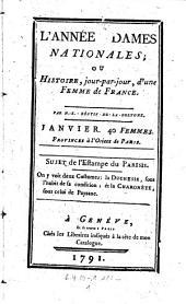 L'Annee des dames nationales; ou histoire jour-par-jour, d'une femme de France: Volume1