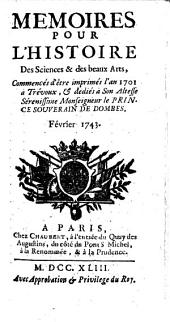 Mémoires pour l'histoire des sciences et des beaux arts