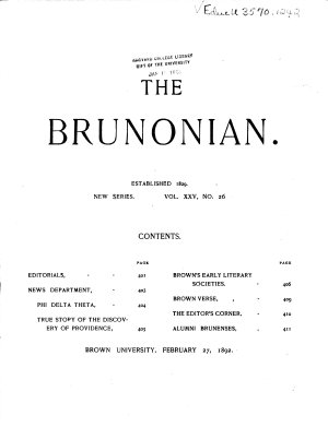 The Brunonian PDF