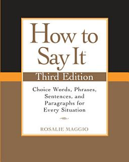 How to Say It  Third Edition Book