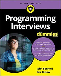Programming Interviews For Dummies Book