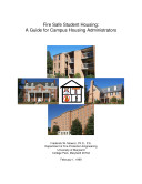 Fire Safe Student Housing: A Guide for Campus Housing Administrators