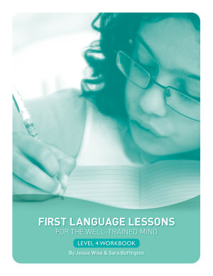 First Language Lessons for the Well Trained Mind  Level 4 Student Workbook  First Language Lessons