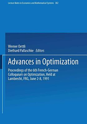 Advances in Optimization PDF