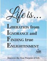 Life is    Liberation from Ignorance and Finding true Enlightenment PDF