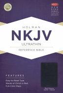 NKJV Ultrathin Reference Bible  Black Genuine Leather Indexed PDF