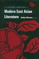 The Columbia Companion to Modern East Asian Literature PDF