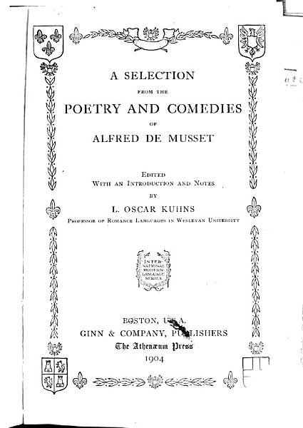 Download A selection from the poetry and comedies of Alfredo de Musset Book