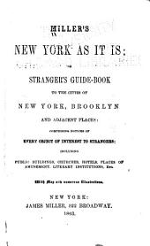 Miller's New York as it Is, Or, Stranger's Guide-book to the Cities of New York, Brooklyn and Adjacent Places: Comprising Notices of Every Object of Interest to Strangers : Including Public Buildings, Churches, Hotels, Places of Amusment, Literary Institutions, Etc