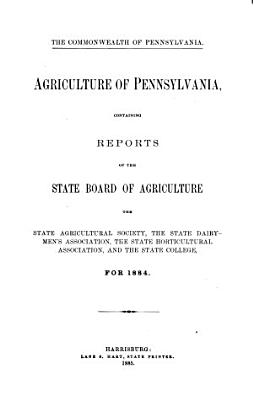 Annual Report of the Pennsylvania Board of Agriculture for the Year