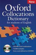 Oxford Collocations Dictionary PDF