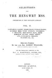 Selections from the Hengwrt mss. preserved in the Peniarth library: Volume 2