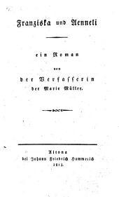 Franziska und Aenneli: ein Roman