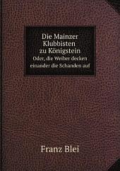 Die Mainzer Klubbisten zu K?nigstein