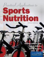 Practical Applications In Sports Nutrition   BOOK ALONE PDF